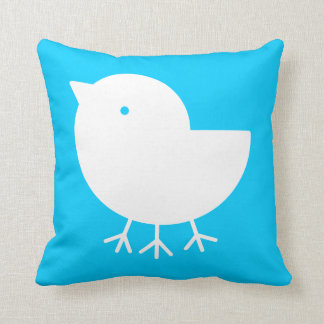 Cute Yatagarasu(white)(square) Throw Pillow