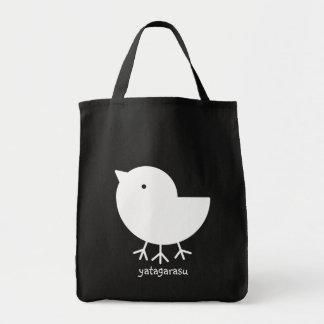 Cute Yatagarasu (white) Tote Bag