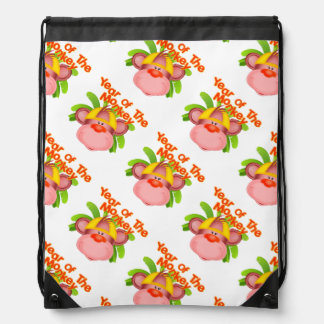 Cute Year of the Monkey Baby Drawstring Bag