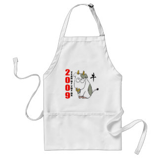 Cute Year of The Ox T-Shirt Adult Apron