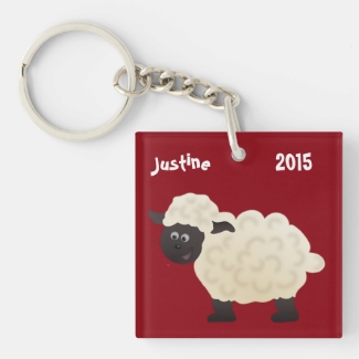 Cute Year of the Sheep Key Chain