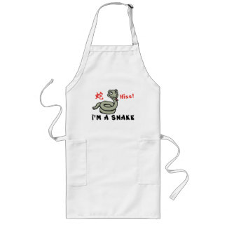 Cute Year of The Snake Long Apron