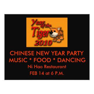 Cute Year of the Tiger 2010 Cartoon Art Flyer
