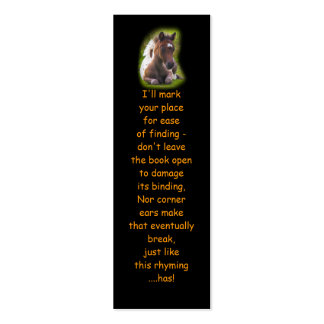 Cute Yearling Foal bookmarks Double-Sided Mini Business Cards (Pack Of 20)