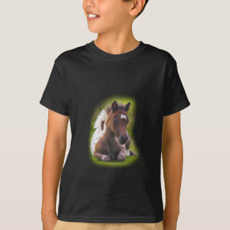Cute Yearling Foal kids tshirt