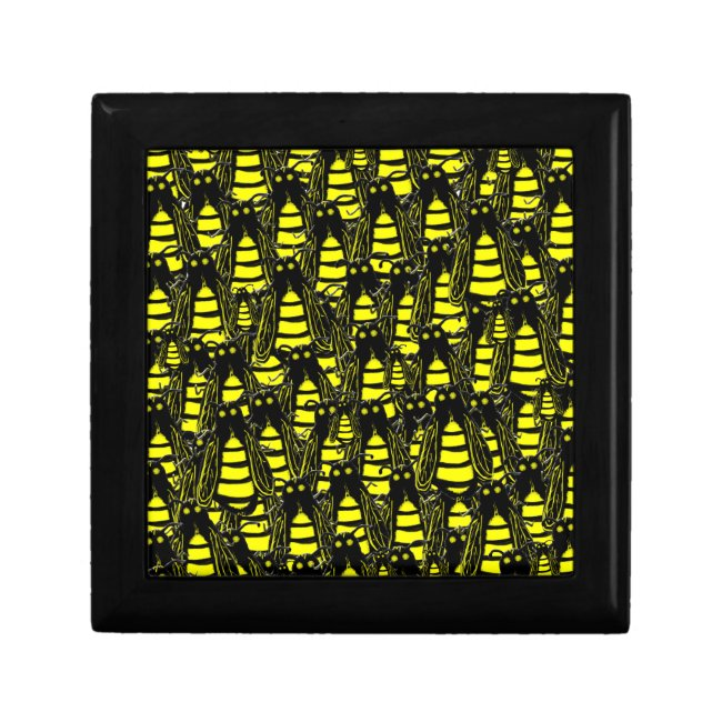 Cute Yellow and Black Piles of Honeybees Pattern