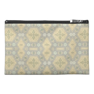 Cute Yellow and Gray Vintage Geometric Travel Accessory Bags