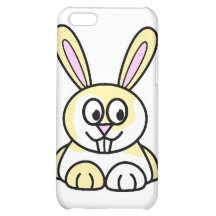Cute Yellow and White Bunny Rabbit iPhone 5C Cases