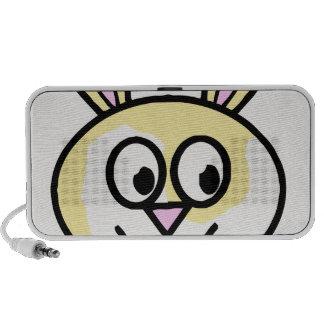 Cute Yellow and White Bunny Rabbit Mini Speaker
