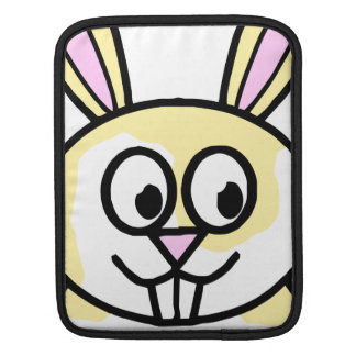 Cute Yellow and White Bunny Rabbit Sleeve For iPads