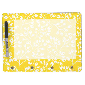 Cute yellow autumn berries dry erase board with keychain holder