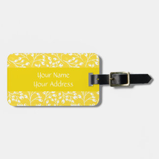 Cute yellow autumn berries luggage tags