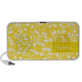 Cute yellow autumn berries portable speakers
