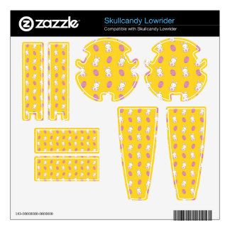 Cute yellow baby bunny easter pattern skullcandy skins
