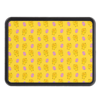 Cute yellow baby chick easter pattern trailer hitch cover