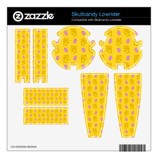 Cute yellow baby chick easter pattern skins for skullcandy
