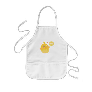 Cute Yellow Baby Chick in Egg Shell Kids' Apron