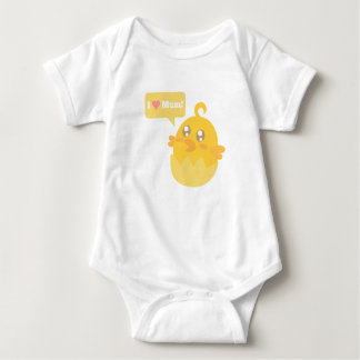 Cute Yellow Baby Chick in Egg Shell Tees