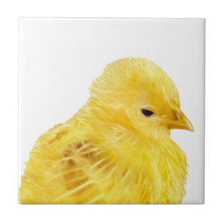 Cute yellow baby Chick Tile