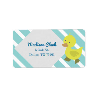 Cute Yellow Baby Duck Customizable Address Labels