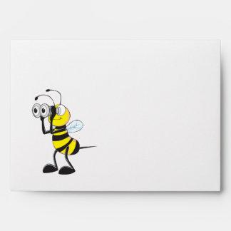 Cute Yellow Bee Binoculars Party Envelopes
