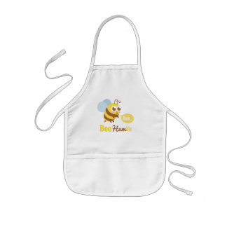 Cute Yellow Bee Humming Pun Humor Apron