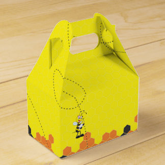 Cute Yellow Bee Mother Holding Baby Party Favor Box