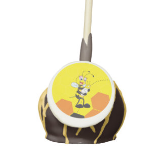Cute Yellow Bee Mother Holding Baby Cake Pops