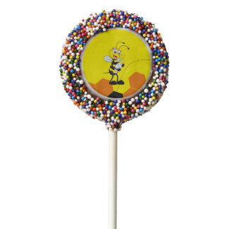 Cute Yellow Bee Mother Holding Baby Chocolate Dipped Oreo Pop