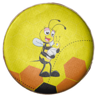 Cute Yellow Bee Mother Holding Baby Chocolate Covered Oreo