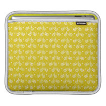 Cute Yellow Bicycles Pattern iPad Sleeve