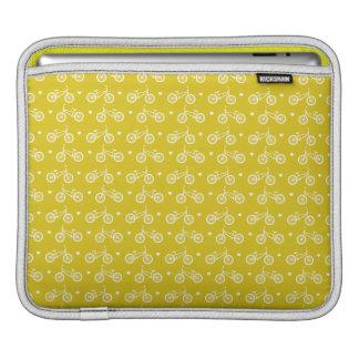 Cute Yellow Bicycles Pattern iPad Sleeve