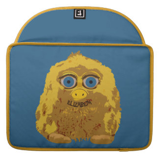 Cute Yellow Bigfoot With Big Blue Eyes Sleeve For MacBooks