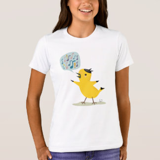 Cute Yellow Bird Excited Warbler T-Shirt
