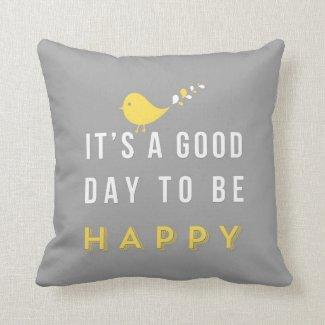 Cute yellow bird pillow