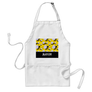 Cute Yellow & Black Bee Adult Apron