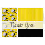 Cute Yellow & Black Bee Card