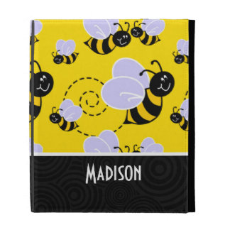 Cute Yellow & Black Bee iPad Cases