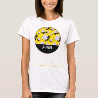 Cute Yellow & Black Bee T-Shirt