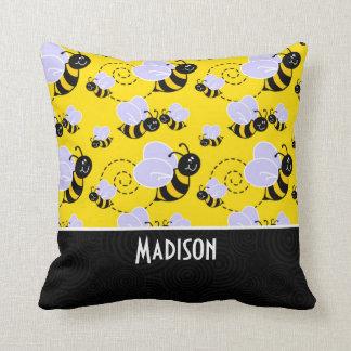 Bee Pattern Pillows - Decorative & Throw Pillows Zazzle