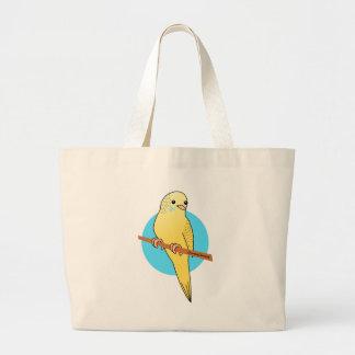 Cute Yellow Budgie Tote Bag