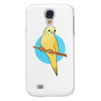 Cute Yellow Budgie Galaxy S4 Case