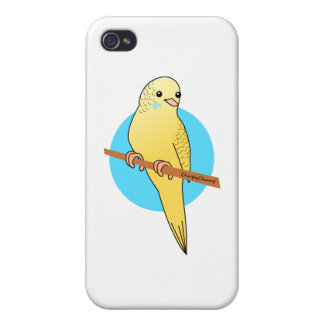 Cute Yellow Budgie iPhone 4 Cover