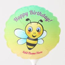 Cute Yellow Bumblebee Cartoon Balloon