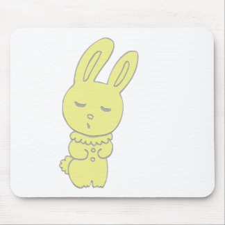 Cute Yellow Bunny Mouse Pad