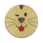 Cute Yellow Cat Face Jelly Belly Candy Tin