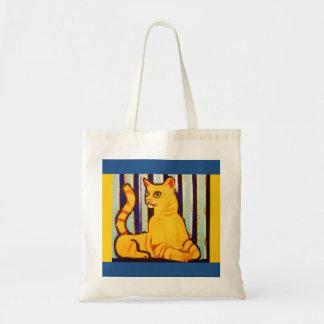 Cute Yellow Cat on Tote Bag