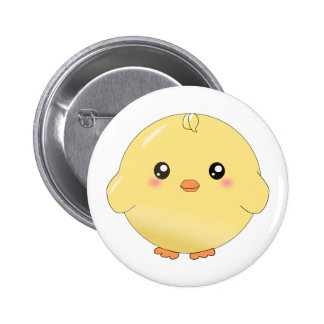 Cute yellow chick button