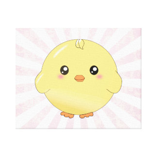 Cute yellow chick canvas print