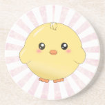 Cute yellow chick coaster